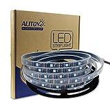 ALITOVE 16.4ft WS2812B Individually Addressable LED Strip Light 5050 RGB SMD 150 Pixels Dream Color Waterproof IP67 Black PCB 5V DC (Color: 150 Leds Black Pcb, Tamaño: Waterproof IP67)