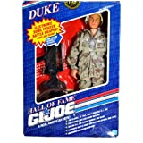 """Hasbro Year 1991 G.I. Joe A Real American Hall of Fame Series Numbered Collector Edition Classic 12 Inch Tall Soldier Action Figure - DUKE with Authentic Battle Dress Uniform, Dog Tags, Backpack, """"Fritz"""" Helmet, """"Stinger"""" Dagger with Sheath, Pistol with Holster, """"MAS-62mm"""" Assault Rifle, Boots and Manual"""