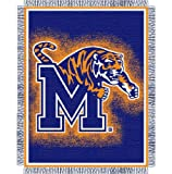 Memphis Tigers NCAA Triple Woven Jacquard Throw (019 Focus) (48&quot;x60&quot;)