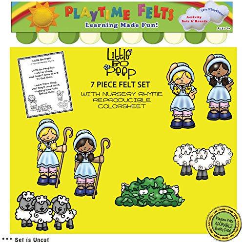 Little Bo Peep Nursery Rhyme Felt Figures