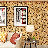 (ハンメロ)Hanmeroリピング 部屋 ふすま diy リフォーム用おしゃれな木目壁紙 ナチュラル&シンプル 木のもくめ のりなし はがせる ビニールクロス 1ロール(53cm×10m)自然木材の色