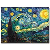 Trademark Art Starry Night Canvas Art by Vincent Van Gogh, 35 by 47-Inch