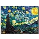 Trademark Fine Art Starry Night by Vincent van Gogh Canvas Wall Art, 24x32-Inch