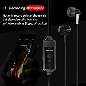 Cell Phone Call Recorder Earphone for iPhone Cellular Calls