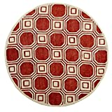 Safavieh PRE153R Precious Collection Round Area Rug, 6-Feet Diameter, Rose