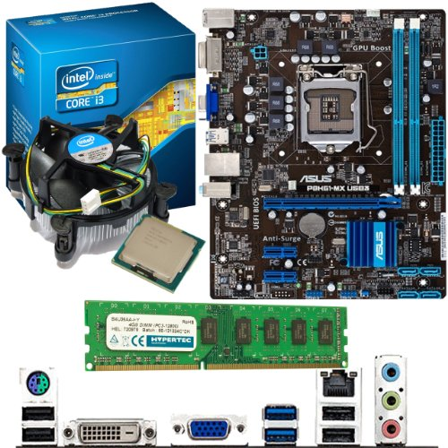 INTEL Core i3 3220 3.3Ghz, ASUS P8H61-MX USB3 & 4GB 1600Mhz DDR3 RAM Bundle