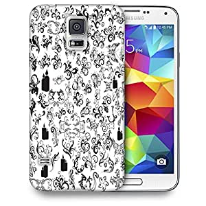 Snoogg Pattern Butterflies Printed Protective Phone Back Case Cover For Samsung S5 / S IIIII