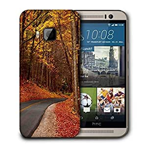Snoogg Orange Junglee Printed Protective Phone Back Case Cover For HTC One M9