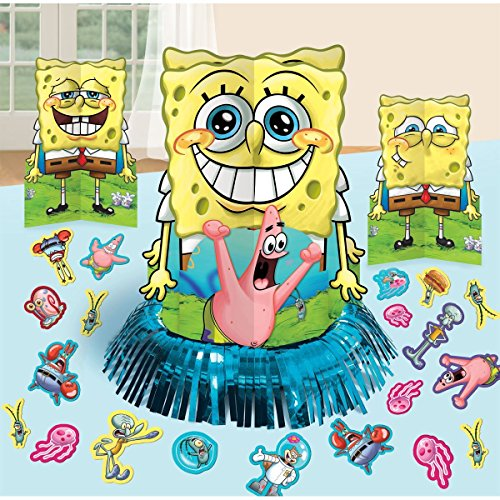 SpongeBob SquarePants Party Table Decorations Kit ( Centerpiece Kit ) 23 PCS - Kids Birthday and Party Supplies Decoration