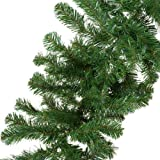 CHRISTMAS DECORATION - a 9ft undecorated xmas green pine garland