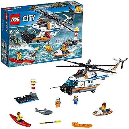 LEGO - 60166 - City - Jeu de Construction - L'hélicoptère de secours