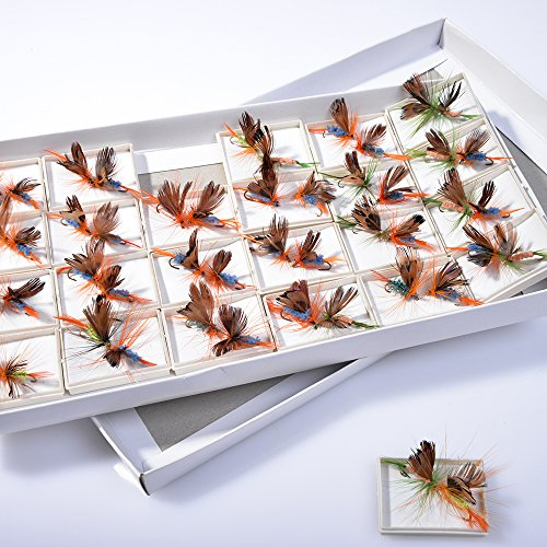 BLISSWILL-48Pcs-Butterfly-Fly-Fishing-Lures-Dry-Flies-Set-Floating-Flies-Hooks-for-Bass-Salmon-Trout