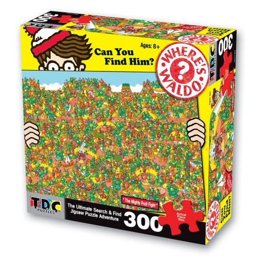 Cheap TDC Games Where'S Waldo 300Pc Puzzle – Great Fruit Fight (B003LSTDAQ)
