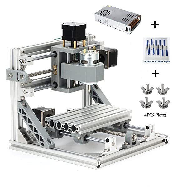 2417 3Axis Router Engraver Kit Desktop Metal Mill PCB DIY Milling Machine US NEW