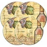 Range Kleen 5062 Charlene Audrey's Tuscany Wine Design Burner Kovers, Set of 4