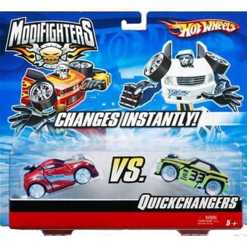 Amazon.com: Hot Wheels Modifighters Quick Changers-Spector Vs. Tantrum