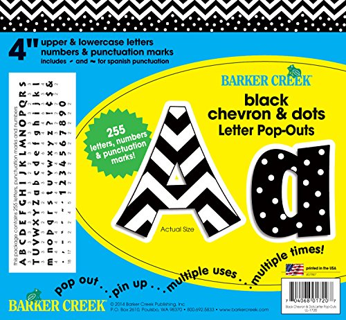 "Barker Creek - Office Products 4"" Poster Letters & Bulletin Board Letter Pop-Outs, 255-Characters (LL-1720)"