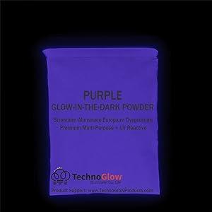Glow in The Dark & UV Reactive Powder - Multipurpose PRO-Series (Natural Purple, 2 Ounces (57g)) (Color: Natural Purple, Tamaño: 2 Ounces (57g))