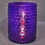 EarthenMetal Handcrafted Cylinderical Shaped Blue Coloured Candlelight Holder