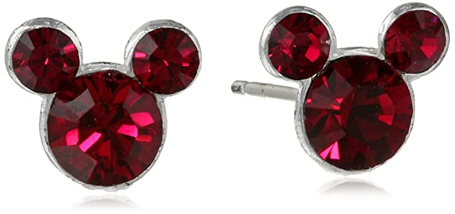 This is on my Wish List: Disney Mickey Mouse Crystal Birthstone Stud Earrings
