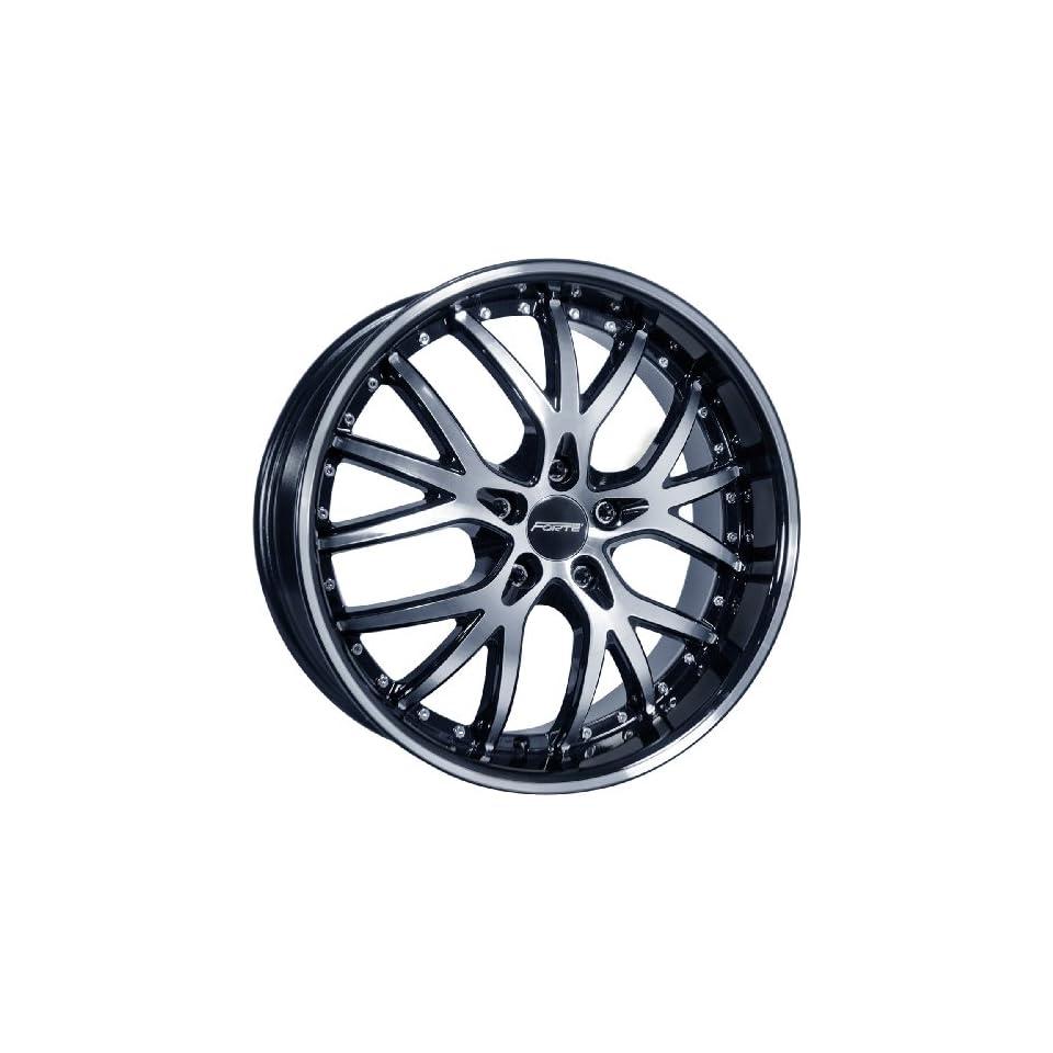 20x9.5 Forte Fury Black Mirror Wheel Rim 5x110 +35mm Offset 73.1mm Hub Bore