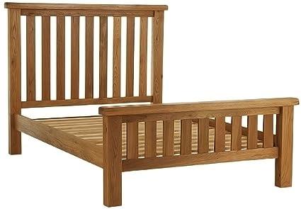 Chichester Oak 4ft6 Double Bed Frame in Light Oak Finish | Wooden Bedroom Furniture
