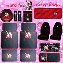 PAIR~ Betty Boop ~ FRONT CAR MATS STAR 1