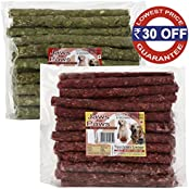 Spectrum Group Pack Of Mutton & Natural Chew Sticks For Dogs, 80 Sticks