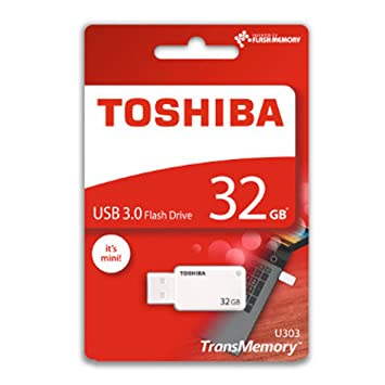 Toshiba 32GB TransMemory U303 USB 3.0 Flash Drive White at amazon