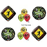 1 X Where's The Party Zombies The Walking Dead Zone Birthday Party Balloons Decorations Supplies NEW!