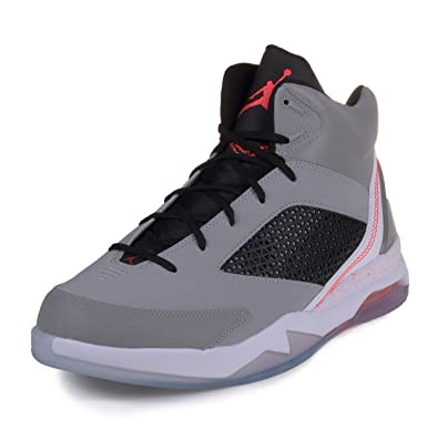 Nike Mens Air Jordan Flight Remix Wolf Grey/Infrared 23-Black Synthetic Basketball Shoes