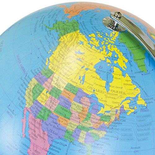 World globe 12 inch desktop atlas with antique stand earth with world globe 12 inch desktop atlas with antique stand earth with political maps gumiabroncs Choice Image