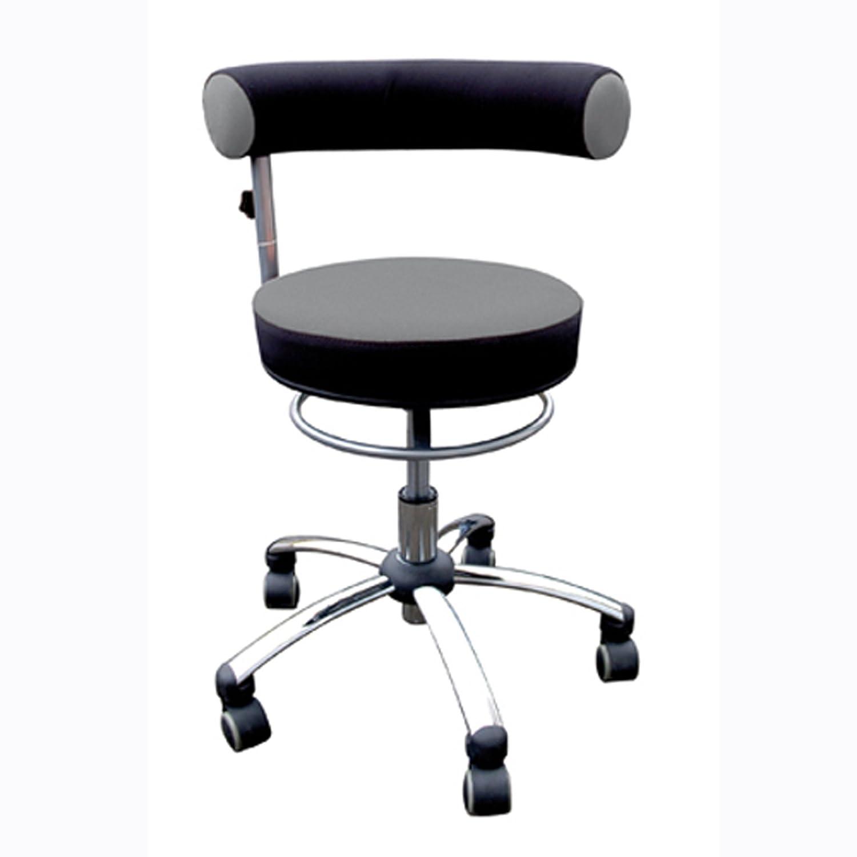 Sanus Gesundheitsstuhl mit höhenverstellbarer Lehne, Sitzhöhe niedrig (36-43 cm), grau/schwarz