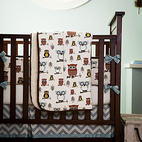 Carousel Designs Retro Owls Crib Comforter back-335010