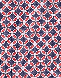VB Woman's Scarf, stylish - with geometric flower-pattern