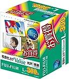 FUJIFILM 写真用紙 画彩 光沢 L 300枚 WPL300VA