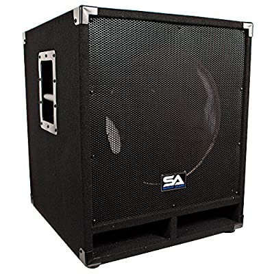 Seismic Audio Baby-Tremor_Empty Empty 15-Inch Subwoofer Cabinet PA/DJ/Band Live Sound Loudspeaker from Seismic Audio Speakers, Inc.