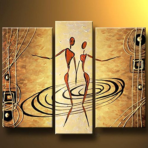 Santin Art-Spinning In The Dance-Modern Canvas Art Wall Decor Abstract Oil Painting Wall Art Framed And Ready To Hang front-81045