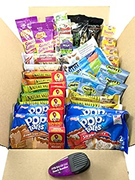 Breakfast on-the-go snack bundle is filled with a variety of 40 individual size snack packs. Conveniently get a variety of breakfast items delivered to your door to save you time. This breakfast snack bundle includes: (2) Nature Valley Breakfast Bisc...