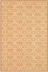 "9'6"" x 13'6"" Rectangular Safavieh Area Rug MSR1214D-10 Tearose Color Hand Hooked China ""Martha Stewart Collection"" Bloomery Design"