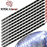 YITAMOTOR 10x 12V Car Motorcycle 30CM 15SMD LED White Waterproof Flexible Light Strip