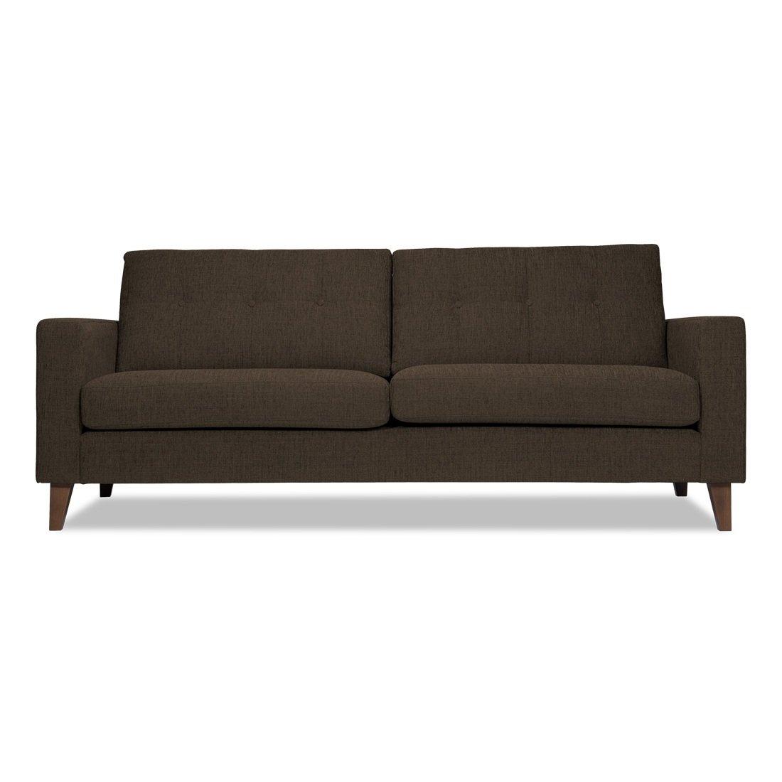 3-Sitzer Sofa Grau-Braun Designer Couch Sofa günstig