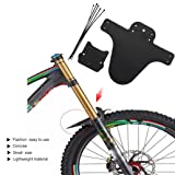 Ecosin Lightest Set Bike Bicycle Mudguards Mountain Cycling Fender Front & Rear Mud Guard 1Pair (Black) (Color: Black, Tamaño: 26.5 * 22cm/ 10.43 * 8.66in)