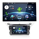 Double Din Car Stereo Audio with in-dash GPS Navigation System for Toyota RAV4 2013,2014,2015, YUNTX 2 Din Rav4 Radio with Android 7.1,8