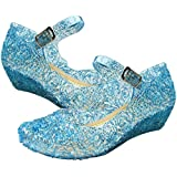 UK1stChoice-Zone ELSA & ANNA® Quality Latest Design Girls Princess Snow Queen Wedged Jelly Party Shoes Sandals