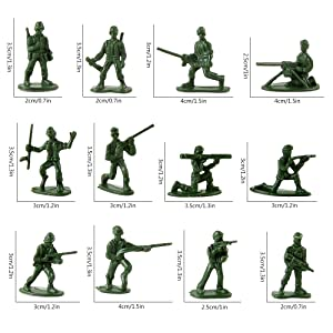 Beebeerun Plastic Army Men Toys for Boys 300 PCS Little Toys Soldiers Army Guys Action Figures