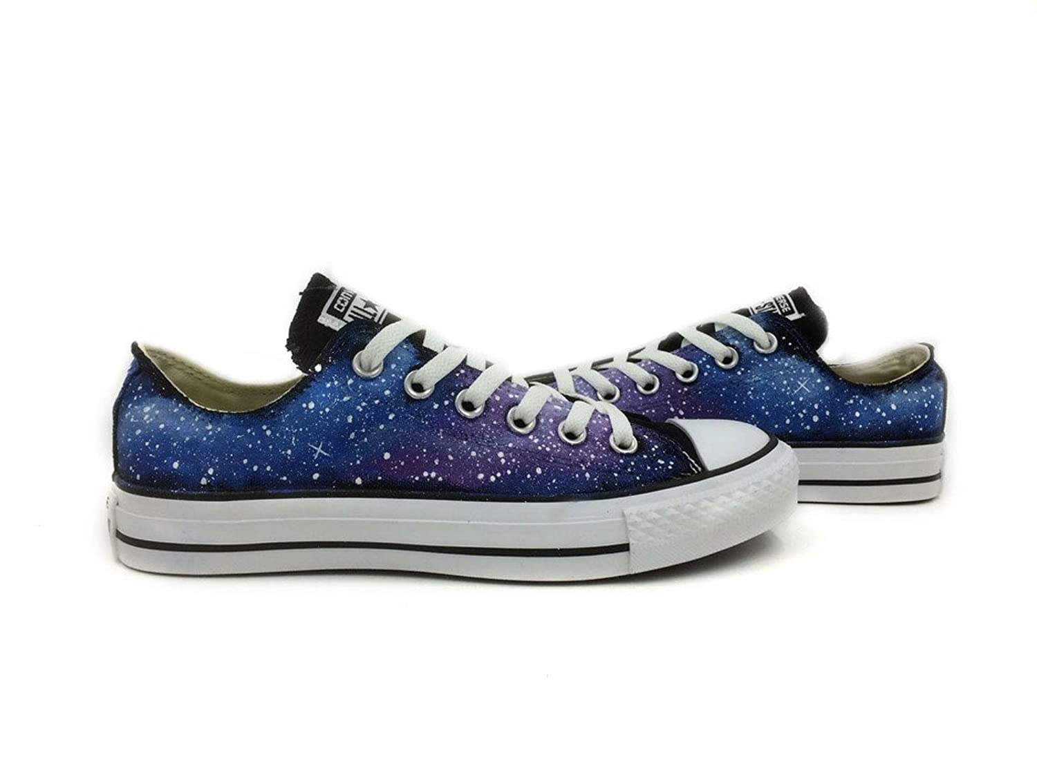Blue Purple Galaxy Space Converse All Star Shoes Women Men
