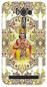PrintVisa 3D-ZENFONE2LASER-D8075 Religious Hanuman Case Cover for Asus Zenfone 2 Laser ZE550KL