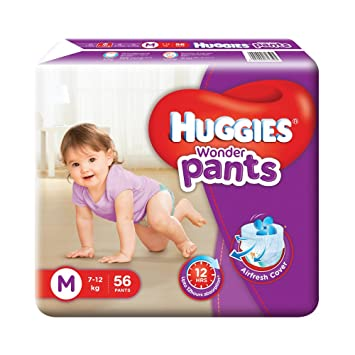 Image result for Huggies Wonder Pants Medium Size Diapers( 56 Count)