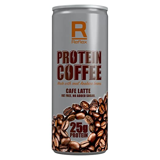 Reflex Nutrition Protein Coffee - Café Latte, 12 Dosen x 250 ml